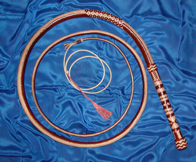 Bullwhip, 24 plait Two-tone Specialty Whip